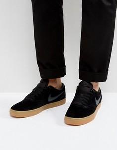 Черные кроссовки Nike SB Check Solar 843895-003 - Черный
