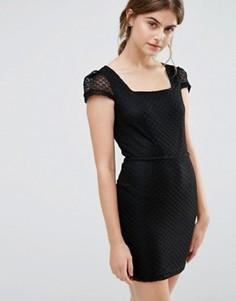 Платье с короткими рукавами Jasmine - Черный
