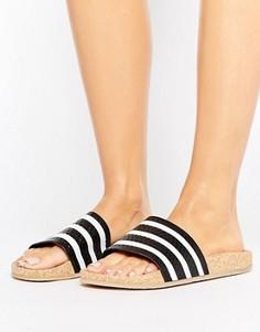 Сандалии на пробковой платформе adidas Originals Adilette - Черный