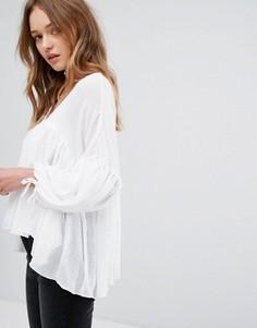 Блузка в богемном стиле d.RA Cleo - Белый