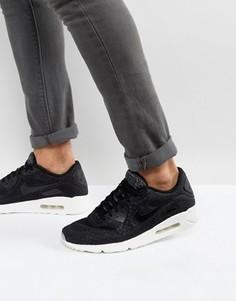 Черные кроссовки Nike Air Max 90 Ultra Breathe 898010-001 - Черный
