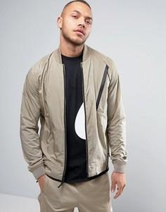 Бежевая университетская куртка Nike Tech 832190-235 - Бежевый