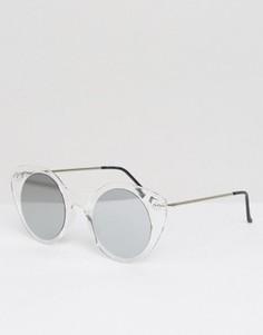 Прозрачные солнцезащитные очки кошачий глаз с зеркальными стеклами Spitfire - Прозрачный