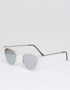 Прозрачные солнцезащитные очки кошачий глаз с серебристыми стеклами Spitfire - Прозрачный