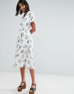 Платье-рубашка миди Unique 21 - Синий