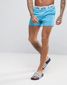 Короткие шорты для плавания с контрастным принтом ASOS - Синий