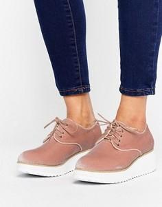Туфли на плоской подошве со шнуровкой London Rebel - Бежевый