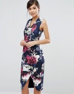 Цельнокройное платье с принтом Coast Penelope - Синий