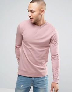 Легкий облегающий розовый свитшот ASOS - Розовый