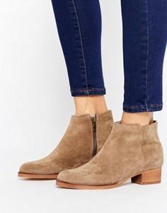 Кожаные ботинки на среднем каблуке H by Hudson - Бежевый