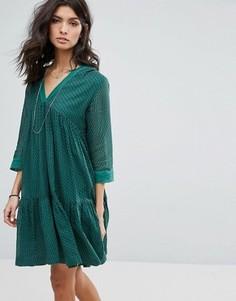 Свободное платье BA&SH - Зеленый Ba&Sh