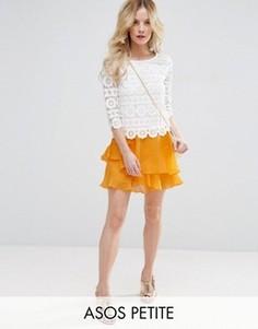 Мини-юбка с воланами ASOS PETITE - Оранжевый