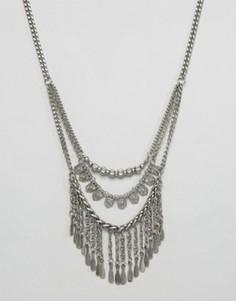 Эффектное ожерелье-цепочка Pieces - Серебряный