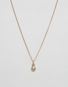 Ожерелье с подвеской в виде ананаса Pieces Katina - Золотой