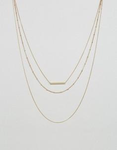 Ожерелье в несколько рядов Pieces - Золотой