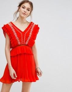 Платье с вышивкой Moon River - Оранжевый
