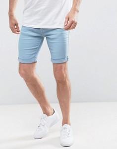 Светло-синие джинсовые шорты Blend - Синий