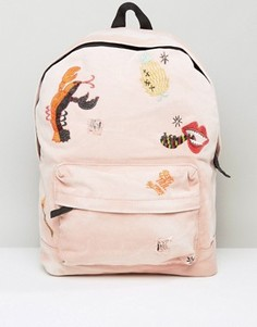 Рюкзак с вышивкой ASOS X LOT STOCK & BARREL - Розовый