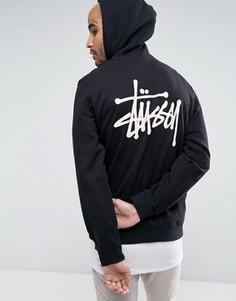 Худи с логотипом на спине Stussy - Черный