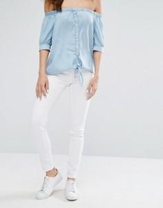Зауженные джинсы Noisy May Paris - Белый