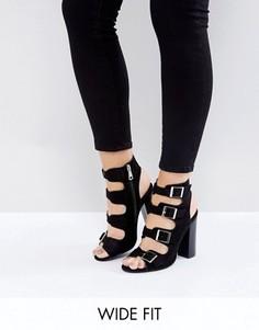 Босоножки для широкой стопы на блочном каблуке New Look - Черный