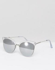 Солнцезащитные очки кошачий глаз с зеркальными стеклами New Look - Коричневый