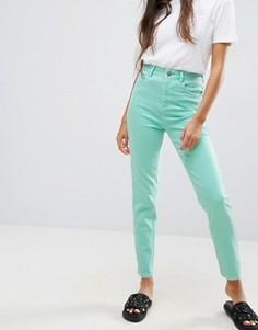 Джинсы слим в винтажном стиле с завышенной талией ASOS FARLEIGH - Зеленый