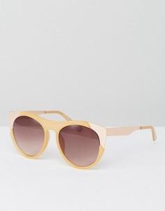 Солнцезащитные очки в бледно-палевой оправе AJ Morgan - Кремовый