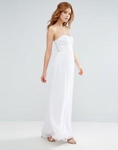 Платье-бандо макси City Goddess - Кремовый