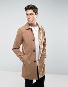 Шерстяное пальто Jack & Jones - Рыжий