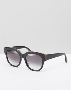 Черные солнцезащитные oversize-очки Stella McCartney - Черный