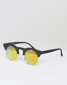 Черные матовые солнцезащитные очки в круглой оправе AJ Morgan Potter - Черный