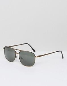 Квадратные солнцезащитные очки бронзового цвета AJ Morgan Gunny - Золотой