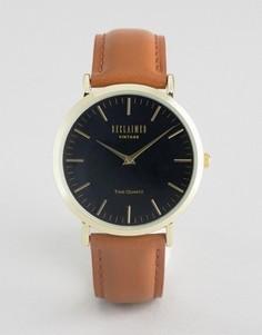 Часы на коричневом кожаном ремешке Reclaimed Vintage Croc - Коричневый