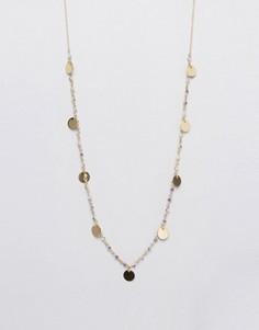 Ожерелье с бусинками и подвесками-монетами Orelia - Золотой