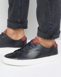 Темно-синие кожаные кроссовки Ted Baker Kiing - Темно-синий