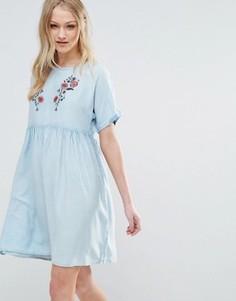 Платье с вышивкой Influence - Синий