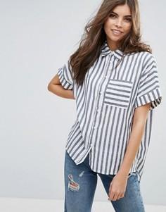 Рубашка в полоску с короткими рукавами Vila - Синий