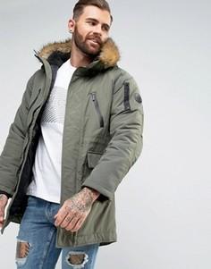 Дутая куртка на молнии Nicce - Зеленый