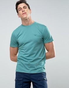 Меланжевая футболка с карманом Threadbare - Зеленый