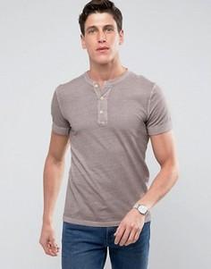 Облегающая футболка хенли сливового цвета с манжетами в рубчик Abercrombie & Fitch - Фиолетовый