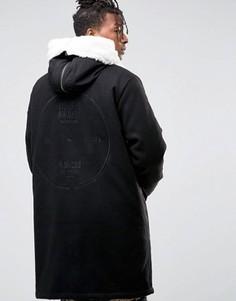 Черная парка с вышивкой сзади ASOS - Черный