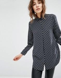 Рубашка в горошек с укороченной спинкой Suncoo Lars - Мульти