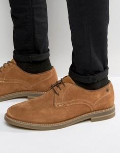 Замшевые туфли дерби Base London Blake - Рыжий