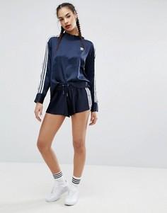Плиссированные шорты мини adidas Originals Adicolor Deluxe - Синий