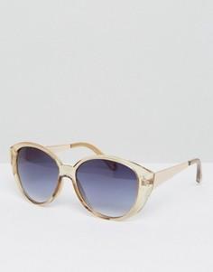 Массивные солнцезащитные очки кошачий глаз AJ - Коричневый