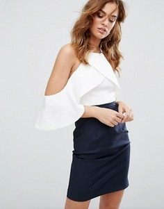 Платье в стиле колор блок с отделкой Y.A.S - Мульти