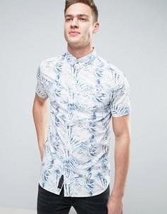 Рубашка с короткими рукавами и принтом Produkt - Белый