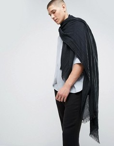 Легкий черный шарф-накидка ASOS - Черный