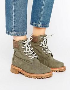 Ботинки на шнуровке Timberland - Зеленый